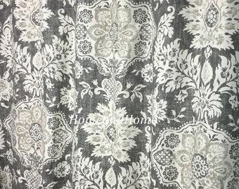 Shower Curtain Belmont Metal Grey Beige Cream 72 X 84 96 108 Long Extra