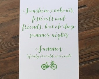 Summer - Seasons Art Print