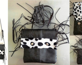 SpecialFilters Mini ItBag wallet Nubuck  leather And Faux Fur