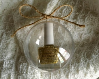 Clear Bauble with a Twine Bow