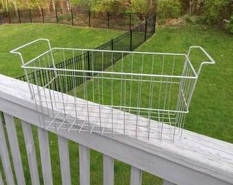 SALE Vintage large wire metal basket