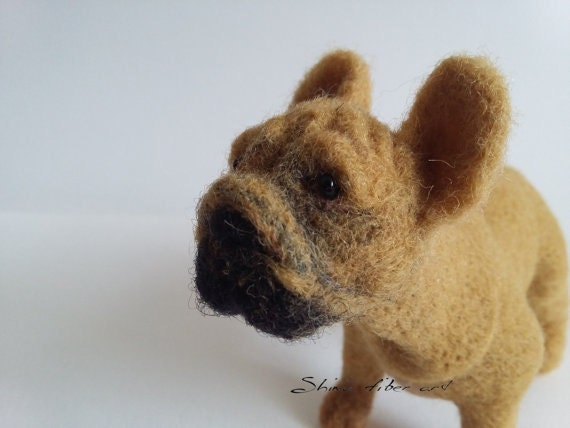French bulldog portrait Needle felted sculpture of your dog Pet memorial