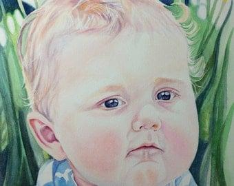 Custom Watercolor Portrait, Portrait Commission, Personalized Portrait, Paintings from photo, watercolor painting, Realistic Portrait
