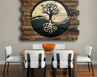 Hawaiian Wall Decor Wood Wall Art Hawaiian Sea Turtle On Wood Home Decor  Rustic