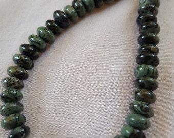Green Kambaba Jasper with silver