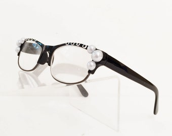 Glamours Eyeglasses +5.50, Reading Glasses +5,50, Beautiful Pearl Bubbles