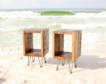 side table for bedroom. Nightstand set  wood bedside table night stand end side Bedside Etsy