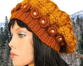 Crochet hat pattern with flower beginner crochet hat patterns for hat crochet beanie pattern crochet beanie hat tutorial beret hat patterns