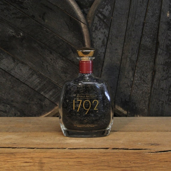 Char Filled 1792 Bourbon Bottle Gift For Him, Valentine's Gift, Perfect Gifts For Guys, Bourbon Gift, Cooking Gift For Him, Son In Law Gift