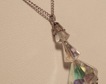 Enchanting Crystal Pendant on Sterling Silver Chain