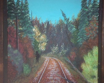 Beware the Tracks - Print of Original Painting