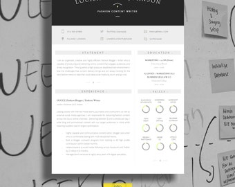 """Resume Design   Resume Template + Cover Letter + Resume Guide + Icons   Microsoft Word (MAC or PC)   Instant Download   """"Moorgate"""""""