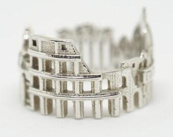 Rome Cityscape - Skyline Statement Ring Size 5-13