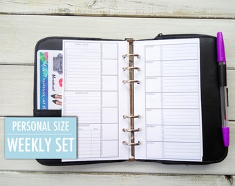 Personal Planner inserts, weekly personal, personal planner, filofax insert, goal planner, meal planner, filofax, kikki k  planner insert