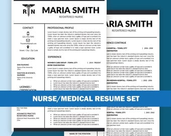 rn resume template nurse resume templates medical resume instant download medic cv cna resume nurse resumes 1 2 3 page resume