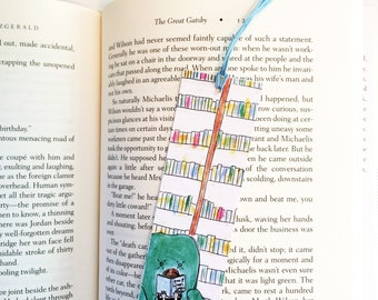 Library bookmark, literary bookmark, Anne of Green Gables bookmark, book club gift, bookworm, English teacher gift