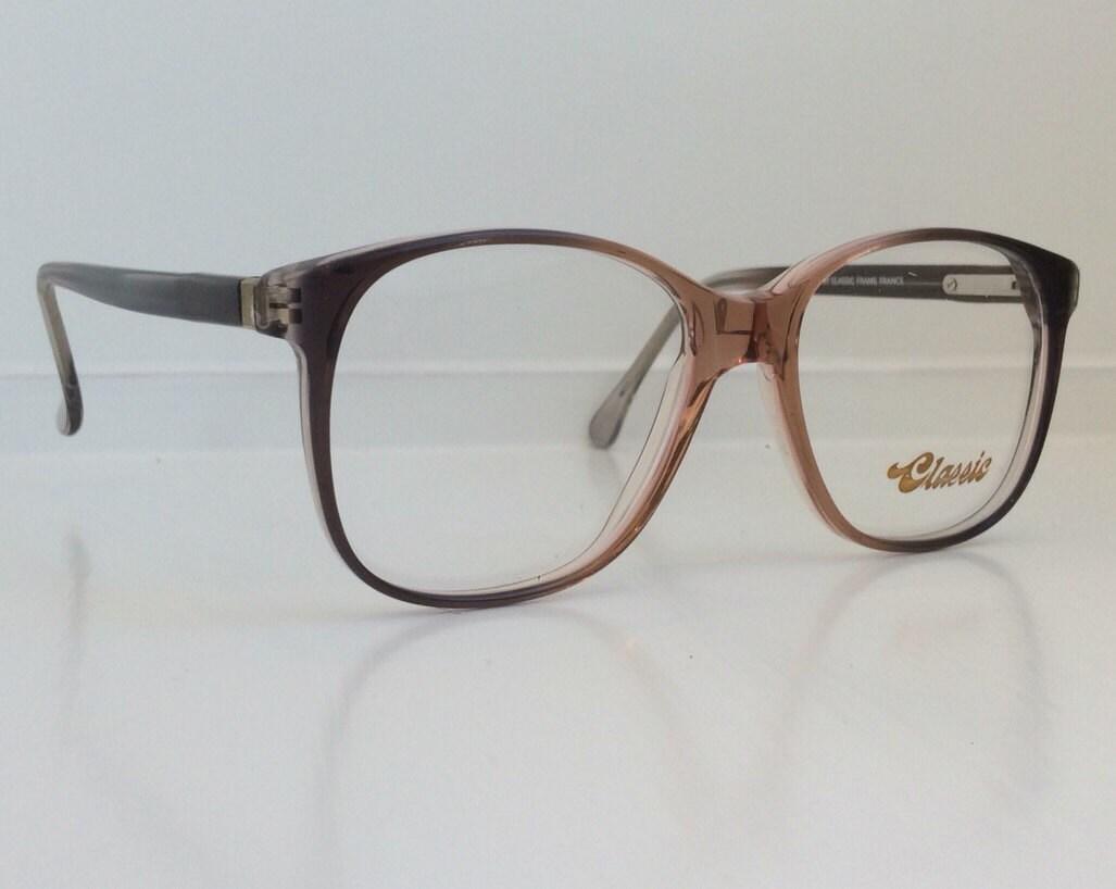 vintage eyeglass frames brown black ombre gradient oversized