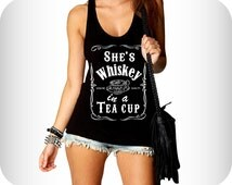 Party Whiskey Flowy Tank Top For Women - Available in S, M, L, XL.