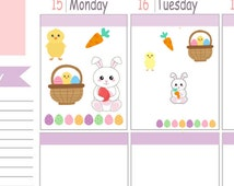 Itty Bitty Kawaii Easter Stickers To Use With Erin Condren Planner
