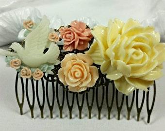 Flower Hair Comb Bird Hair Comb Floral Hair Comb Bridal Hair Combs Hair Accessories