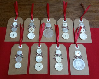 Christmas Snowman Gift Labels (Pack of 3)