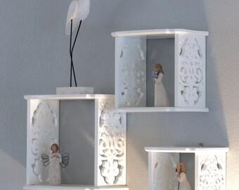 NEW 3 Set Elegant Wall Shelves