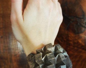 Wood effet Origami bangle