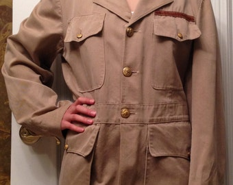 60's/70's Army Surplus Jacket With U.S. Naval Buttons