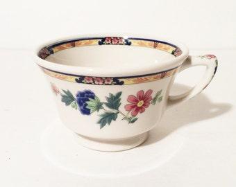 Syracuse China Dewitt Clinton Bird of Paradise footed cup. Vintage Syracuse china