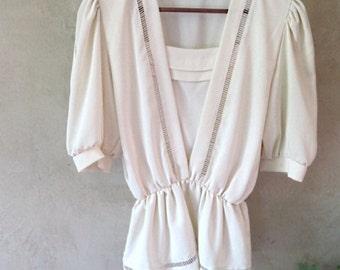 blouse vintage 80