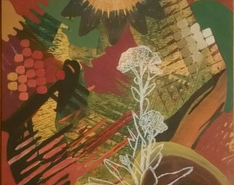 12x12 Autumn Joy Sedum Giclee Print on 130lb Finch paper
