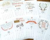 2017 Desk Calendar with Bible Verses Scripture