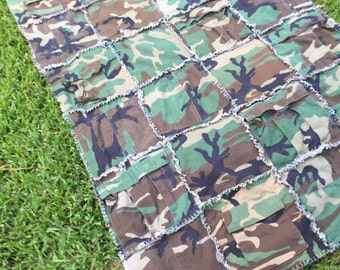 24 square quilt - Military cami's