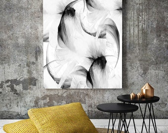 Feather print, Modern Abstract, Abstract Printable, Abstract Print, Black and White Abstract, Abstract Wall Decor, Abstract Poster, abstract