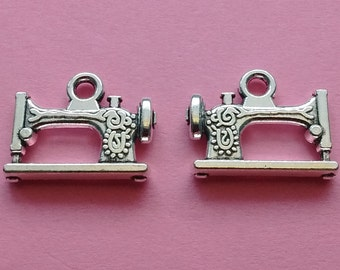 10 pc Sewing Machine Charm Silver - CS2261