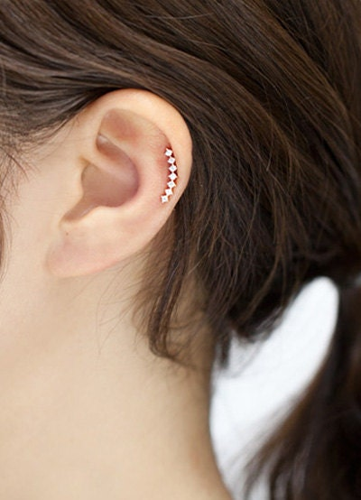 Cartilage earring helix piercing curved cartilage piercing