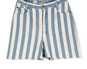 Booty Shorts - Denim shorts - High waist shorts - Oversized shorts - Vintage shorts - Denim - Summer shorts - Denim bottoms - Gift for her