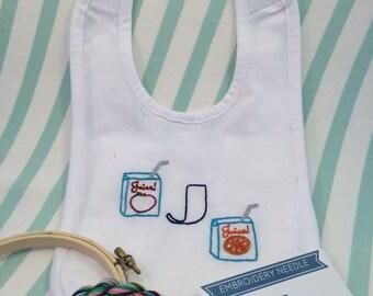 Baby Bib Embroidery Kit DIY Monogram Bib Baby Shower Gift