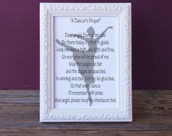 A Dancer's Prayer - Dance Print - Inspirational Art Print - Dance Wall Decor - Instant Download Dancer's Prayer Wall Art - Prayer Wall Art