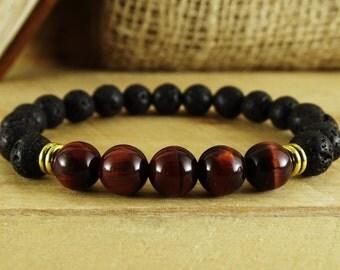 Mens Bracelets Mens Beaded Bracelet for Men Healing Bracelet Gift Mens Gift for Men Essential oil Diffuser bracelet Best man gift for man