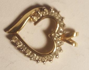 14kt Diamond Heart Pendant