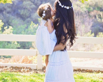 White Flower Girl Crown, Elegant Flower Girl Crown, Flower Girl Halo, Flower Crown Baby, Flower Girl Flower Crown,