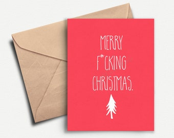 Funny Christmas Cards, Funny Holiday Card, Christmas Card, Adult, Funny Christmas Gift, Happy Holidays, Boyfriend, Best Friend, Card Pack