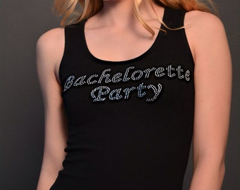 Bachelorette Party Rhinestone Tank Top