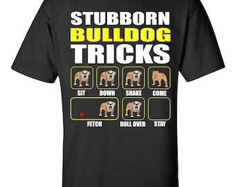 Bulldog apparel etsy T shirts for english bulldogs