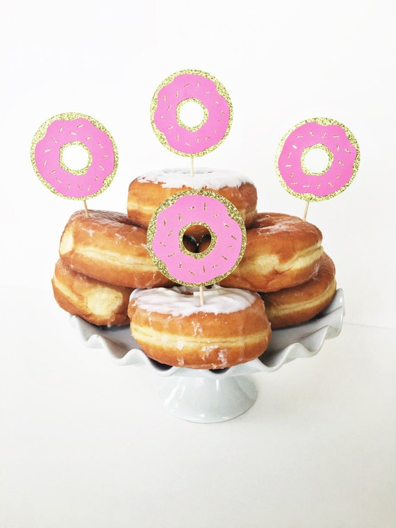 Donut Cupcake Toppers / Birthday Party / by GlitterDesignsCo