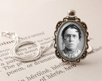 Emma Goldman Pendant Necklace - Emma Goldman Jewelry, Anarchist Feminist Necklace, Political Philosophy Pendant, Emma Goldman Jewellery