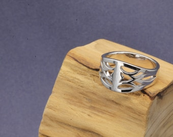 Lattice Ring, Romantic Gifts For Her, Sterling Silver Ring