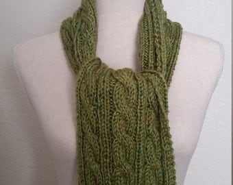 Scarf - Tweed Cable Knit