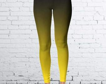 Black and Gold Ombre Leggings